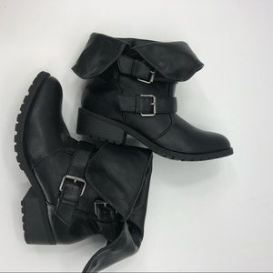 Madeline Girl Women's Combat Black Ankle Boots